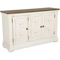 Unique Antique White Console Cabinet