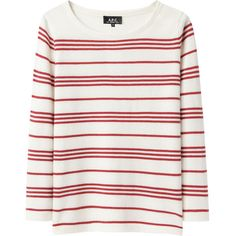 A.P.C. Retro Marinière Pullover ($235) ❤ liked on Polyvore