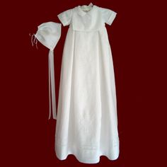 """Irish linen boys christening gown""-- sounds like Joel!! I love the length on this one, would look great in photos!"