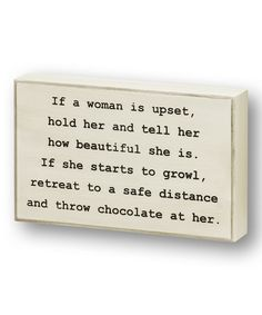 Collins If a Woman is Upset Wall Sign | zulily