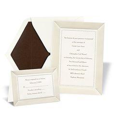Ecru Satin and Pearls Wedding Invitation- Michael's