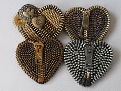 WALDES Vintage Zipper Brooch by ZipperedHeart on Etsy, $13.00