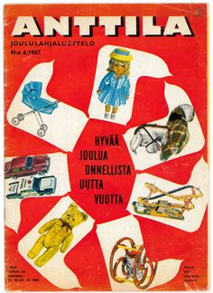Anttilan joululahjaluettelo vuodelta 1967.