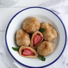🍴Jahodové knedlíky recept – rychle, zdravě a jednoduše 🍴 Jimezdrave.cz Pretzel Bites, Bread, Brot, Baking, Breads, Buns