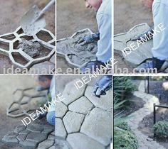 Path-Companheiro DIY Molde de Pedra-em Pedras de pavimentação de Pedras de paisagismo em m.portuguese.alibaba.com.