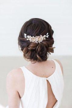 cool Coiffure de mariage 2017 - Inspiration : bijoux pour la coiffure de la mariée...