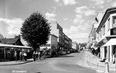 Vestfold fylke Sandefjord sentrum 1960-tallet Utg Mittet Street View