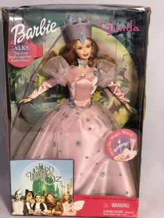 1999 Mattel Wizard Of Oz Barbie As Glinda The Good Witch Talking Doll Damged Box
