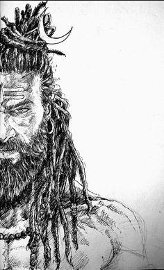 Shankara by Puneet Shukla Aghori Shiva, Rudra Shiva, Angry Lord Shiva, Arte Krishna, Lord Shiva Sketch, Shiva Tattoo Design, Mahakal Shiva, Lord Shiva Hd Images, Lord Mahadev