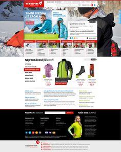 New Alpine shop by Roman Káčerek, via Behance