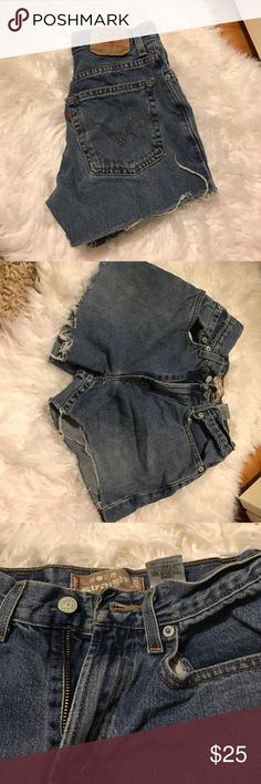 Vintage Levi Cutoffs Vintage Levi cutoff shorts. Size 14 boys so a size 00/0 women's. Levi's Shorts