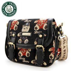 DAKA BEAR Wind Shoulder Bag Backpack Schoolbag Girls Crossbody Bag Hobo Bags