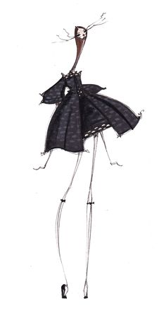 Fashion illustration - stylish fashion sketch // Jamie Lee Reardin