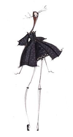 Fashion illustration - stylish fashion sketch // Jamie Lee Reardin