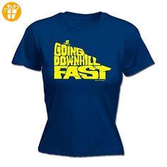Ride Like The Wind Damen T-Shirt, Slogan Blau Navy Large - Shirts mit spruch (*Partner-Link)