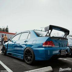 #Mitsubishi_Evo #Slammed #Stance #Modified