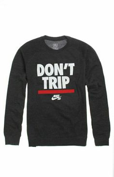 af4750ee ViewMens Nike Hoodie - Nike Sb Don't Trip Crew Fleece- Get Lowest Price-  Compare Prices- Go to Pacific SunwearCharcoal heather crew fleece with two  tone ...