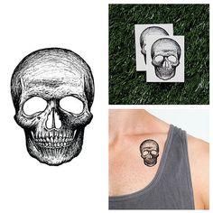 Skull Cap - Temporary Tattoo (Set of 2)