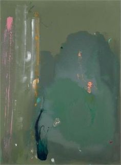 A Green Thought in a Green Shade, 1981 by Helen Frankenthaler. Helen Frankenthaler, Abstract Painters, Abstract Art, Abstract Landscape, Illustrations, Illustration Art, American Artists, Abstract Expressionism, Painting & Drawing