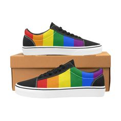 Womens Rainbow Pride Hearts LGBT Flag Gay Pride Slipper Summer Shower Shoes