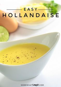 This Hollandaise sauce is made in a blender, and it could not be easier to prepare! This Hollandaise sauce is made in a blender, and it could not be easier to prepare! Waffle Recipes, Brunch Recipes, Breakfast Recipes, Egg Recipes, Blender Recipes, Cooking Recipes, Juicer Recipes, Easy Cooking, Smoothie Recipes