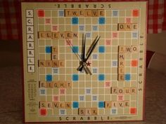 Scrabble Clock  Numbers by 2cheekymonkeys on Etsy  How clever is this!  @Kristine Smith