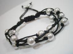 Perličková motanice - černobílá
