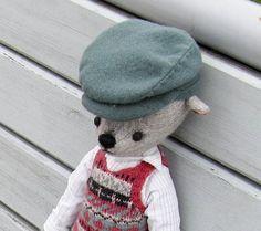 Teddy Bear in fair isle waistcoat by PensiveTeddyOfStyle on Etsy
