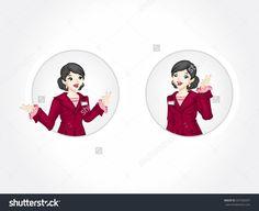 Young executive woman Badge. Business woman badge.