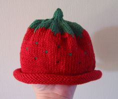 1yr old Size Strawberry Hat by Vron, via Flickr