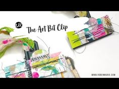 The Art Bit Clip: A tutorial — Roben-Marie Smith Make Art, Junk Journal, Art Techniques, Art Tutorials, Ephemera, Projects To Try, Concept, Make It Yourself, Journaling
