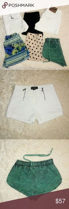 Bundle (6): Stock Up On Spring/Summer Shorts ! Chic & sassy shorts.  Shorts are available as a bundle or individually (check individual listings)  Brands: Vigoss Jeans, Guess By Marciano, Old Navy, Charlotte Russe.  Sizes 0 & small. White Vigoss shorts size 3/4.  I ship by the next day; Same day if possible. Thanks for poshing ! Guess by Marciano Shorts
