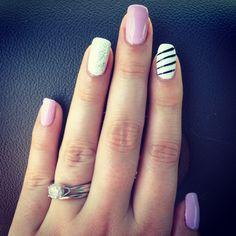 Fun new gel nail design. Super cute and easy. DIY.