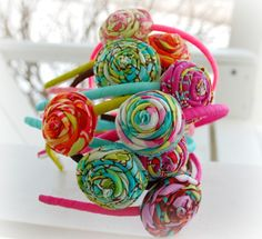 Gorgeous Rosette Headbandsyou choose ten por brookiecookiesbows