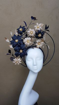 Beautiful fascinator for the wedding guest Floral Headpiece, Flower Headdress, Hat Flower, Millinery Hats, Fancy Hats, Kentucky Derby Hats, Love Hat, Headgear, Hair Jewelry