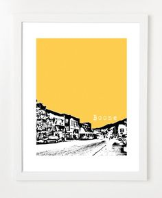 Boone North Carolina Poster  State Love Series Art by birdAve, $20.00