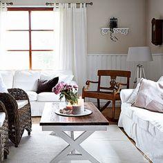 Una casa de campo con aire romántico nórdico