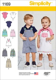 Visit the pattern department in store to browse our patterns available in store.Get this classic baby look with these adorable overalls in two lengths, jumper with trim and hem variations, and knit on
