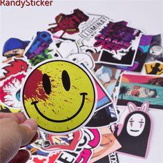50 new misto Sticker per Lo Snowboard Skateboard Bagagli Portatile Auto Frigorifero Telefono giocattolo di DIY Styling Decalcomania Del Vinile home decor Sticker