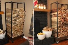 pipe-firewood-holder