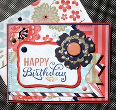 Birthday Card with Matching Embellished by SewColorfulDesigns
