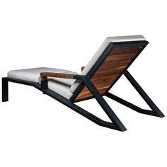 For Sale on - The Baltimore modern lounge chair is handmade to order from our unique Ambrozia black textured steel tubing frame design with a backchair in solid wood Welded Furniture, Iron Furniture, Steel Furniture, Home Decor Furniture, Industrial Furniture, Furniture Design, Metal And Wood Bench, Wood Slats, Steel Bed Design