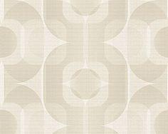 Retro Behangpapier Slaapkamer : Behangpapier slaapkamer bubble art retro pattern