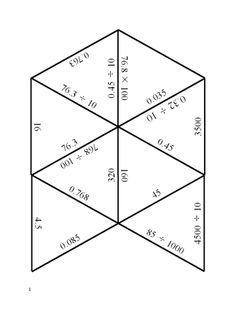 Six differentiated tarsia puzzles to practise multiplying