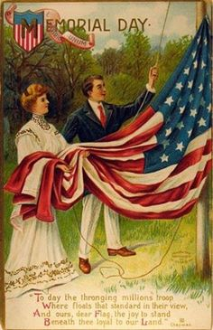 A Memorial Day Tribute. Memorial Day in the U. is observed on May Vintage Greeting Cards, Vintage Postcards, Holiday Postcards, Vintage Ephemera, Patriotic Images, Patriotic Posters, Doodle, Independance Day, Poster Art