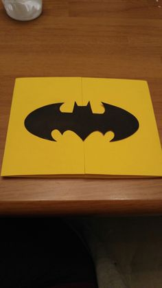 Batman invitation for birthday (see 2nd picture)