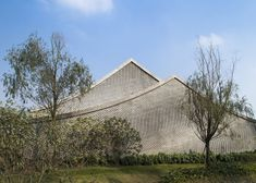 Shanghai studio Archi-Union used differently sized bricks to make waves across the exterior of this restaurant and members' club at a cultural heritage park in Chengdu, China