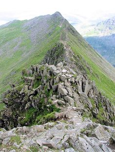 Helvellyn Striding Edge The Lake District, Cumbria via Dolly Waggon pike English Countryside, Cumbria, Lake District, Cool Places To Visit, That Way, Travel Pictures, The Great Outdoors, Beautiful Places, National Parks
