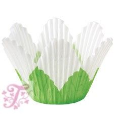 Muffin papír - Virágszirom, fehér