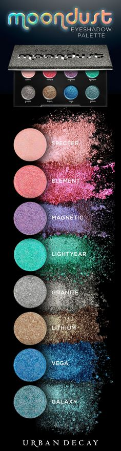Sexy, twinkling sparkle with a ton of depth and movement. Get ready to send your glitter addiction into overdrive with eight otherworldly NEW shades of planet Earth's sparkliest shadow in our first-ev